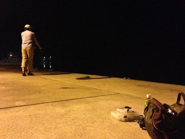 ニュースタンダート佐藤氏の釣りの様子